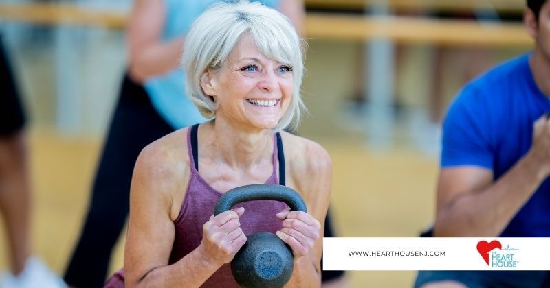 Woman exercises to keep fit and healthy which is especially important after a heart attack according to cardiologists at the Heart House.